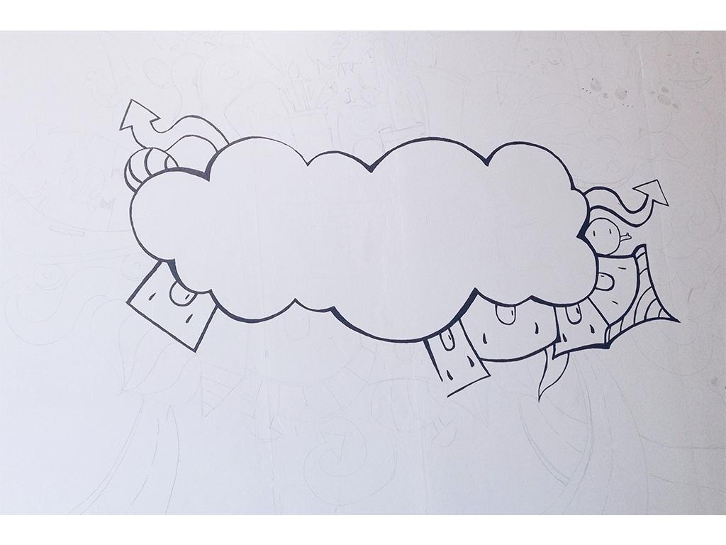 涂鸦手绘墙