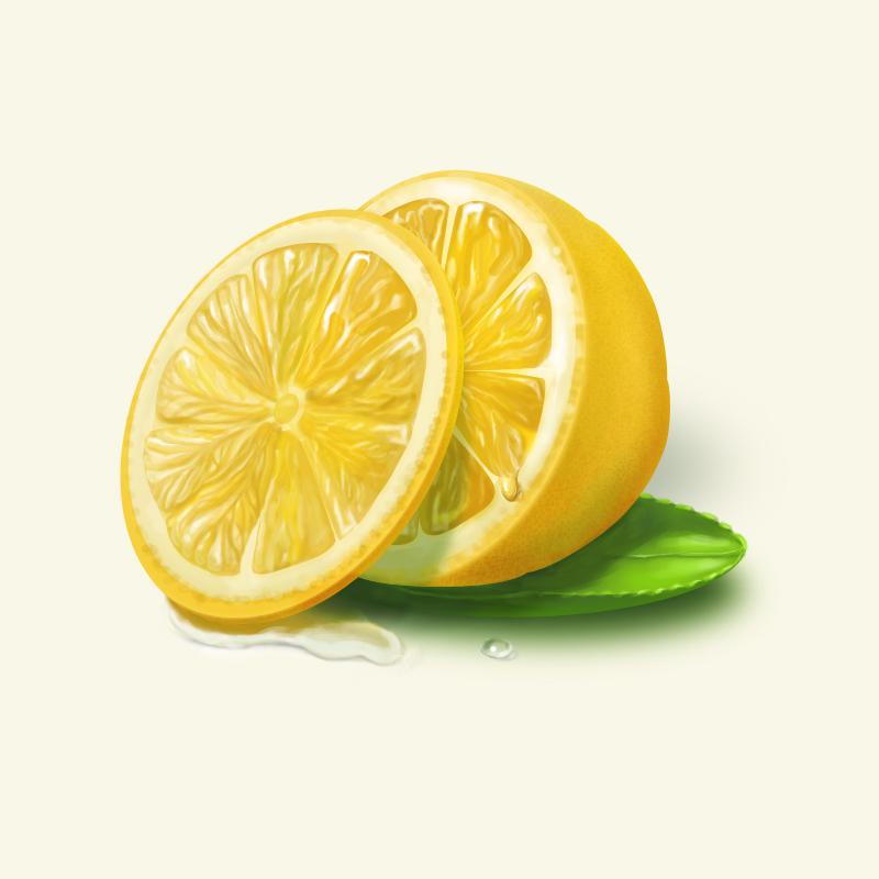 关于柠檬的图手绘