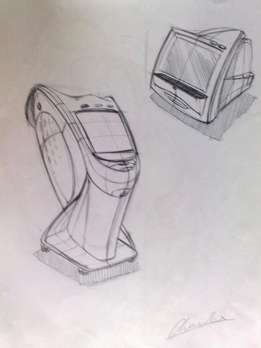马克笔产品手绘|其他产品|工业/产品|半圈心