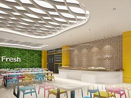 北京加拿大国际学校1500㎡餐厅设计
