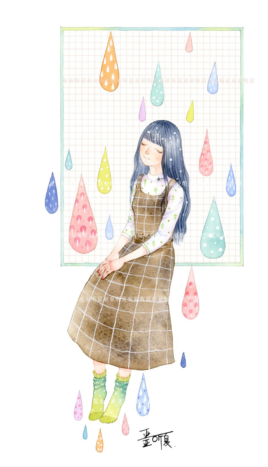 查看《彩色的雨》原图,原图尺寸:920x1602