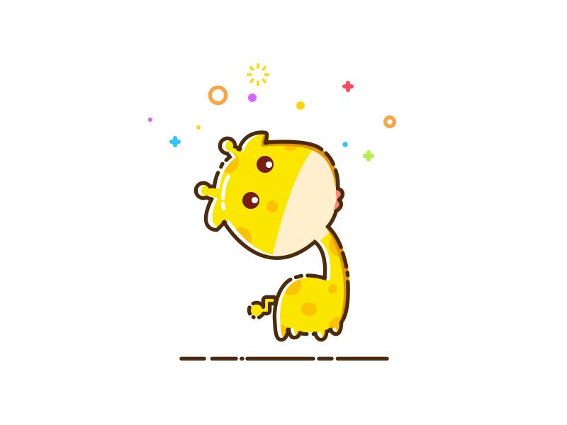 最近这么流行这种简单的卡通风格就练习一张可爱的长颈鹿了(头