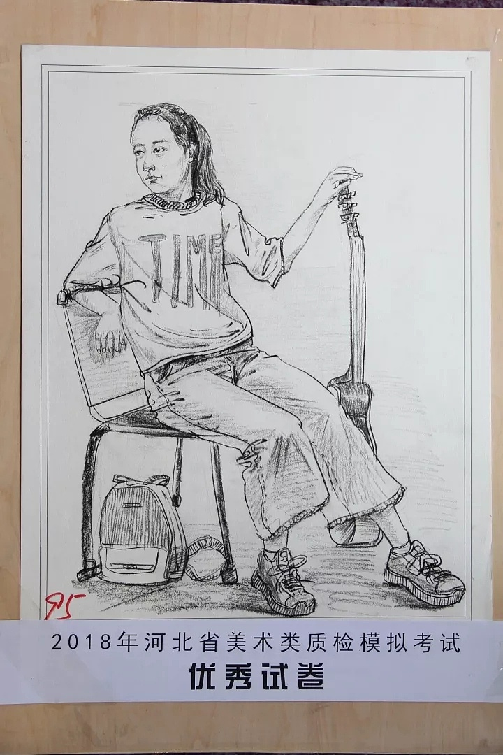 河北省2018美术二模速写高分卷图片
