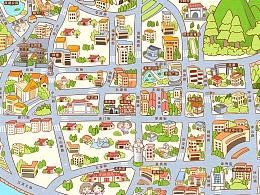 泉州市区手绘地图