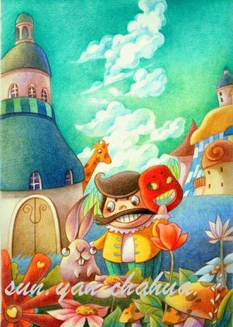 末末的彩铅世界——手绘彩铅《小学之友》—封面