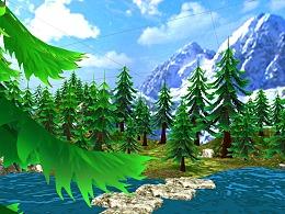 VR创作 虚拟现实-海岛丛林