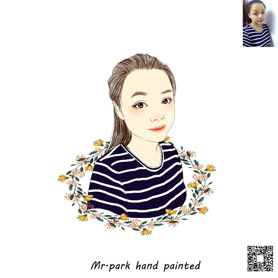 手绘画像/ 手绘人像/人物插画/微信头像