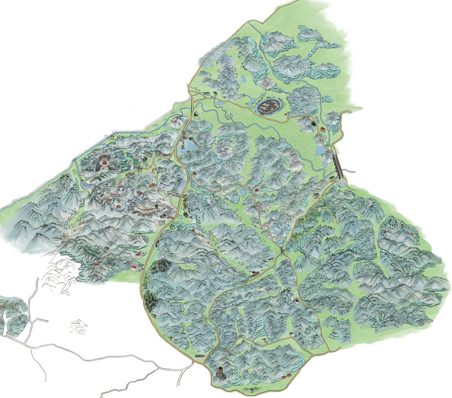 原创作品:手绘旅游地图