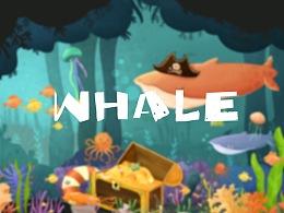 whale-海底世界儿童插画