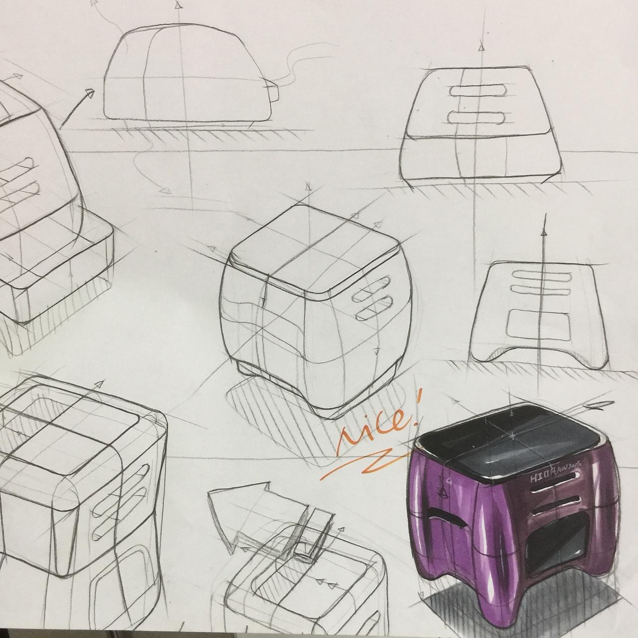 工业设计产品手绘马克笔表达训练稿