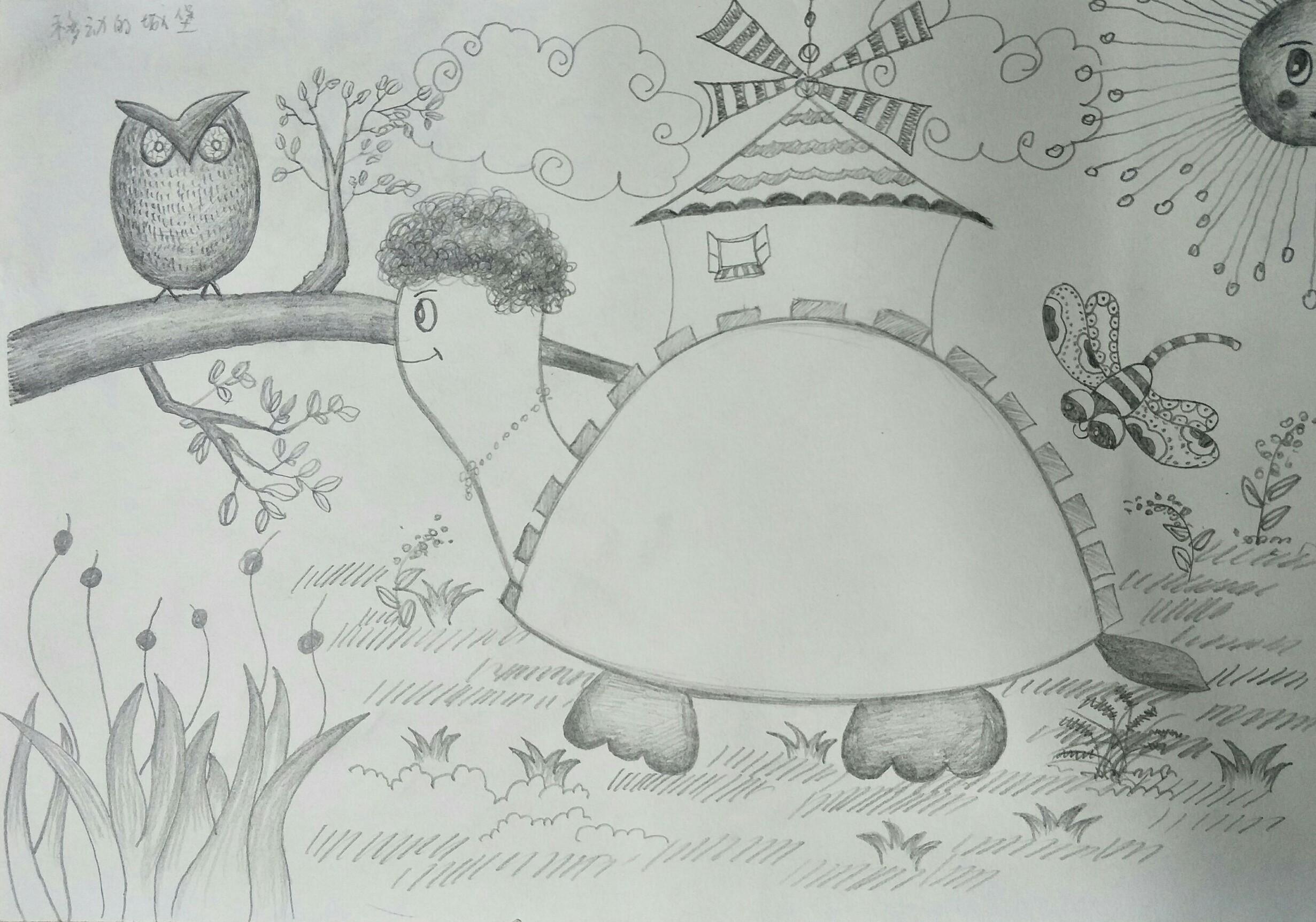 儿童创意素描及色块