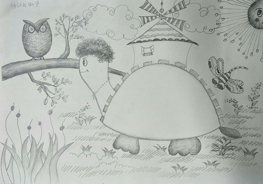 儿童创意素描及色块图片