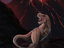 侏罗纪世界之《龙啸山居图》!!