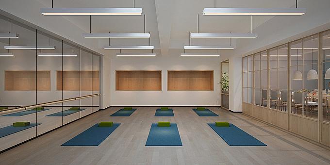 西安工装设计图_西安高新瑜伽馆装修设计图|空间|室内设计|工装之家装修网 ...