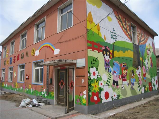 临沂幼儿园手绘|油画|纯艺术|wangzhan - 原创设计