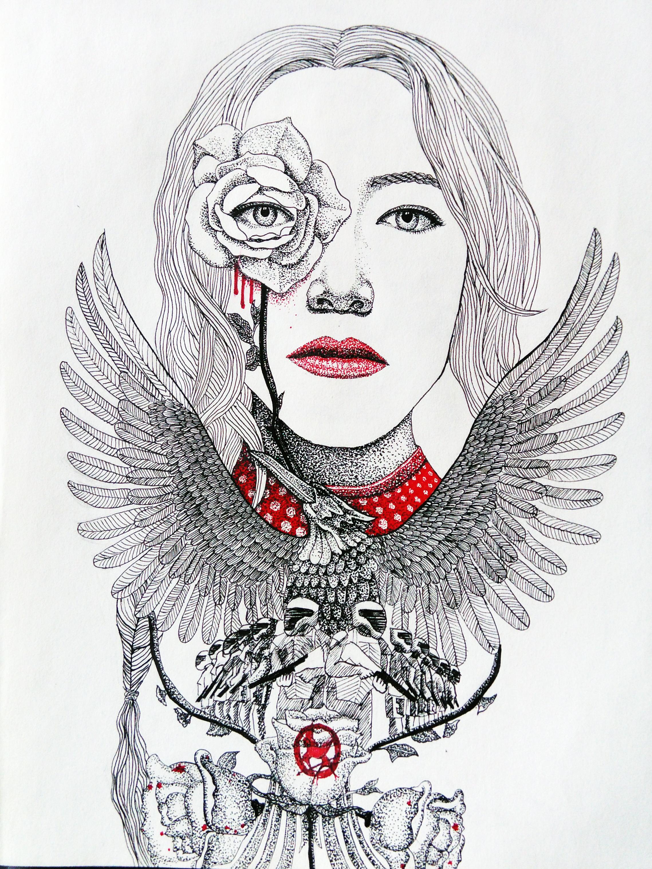 一些黑白手绘-1|插画|插画习作|立体构成 - 原创作品