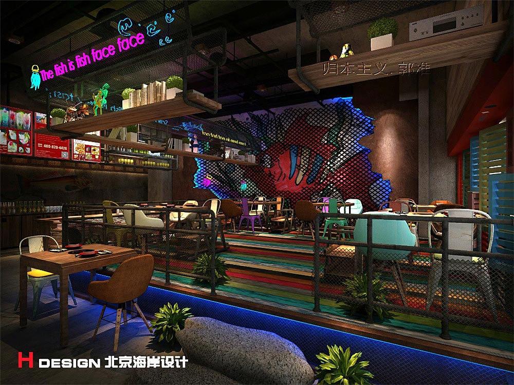 河南郑州舒记鱼空间案例设计火锅|模板|室内设计|海岸pp餐饮设计图片