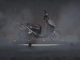 速珂电动CPX锂电踏板车渲染图图集