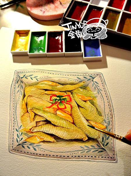 手绘美食:泡椒凤爪