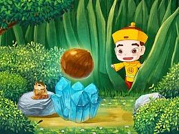 粒上皇春季日常手绘插画首页