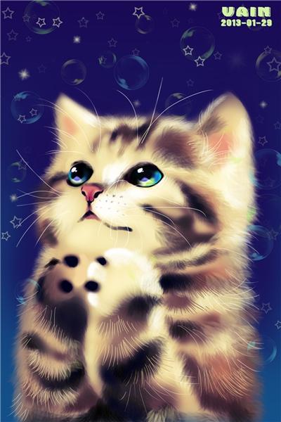 壁纸 动物 猫 猫咪 小猫 桌面 400_600 竖版 竖屏 手机