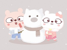 冷兔baby —— 冬日主题手机壁纸