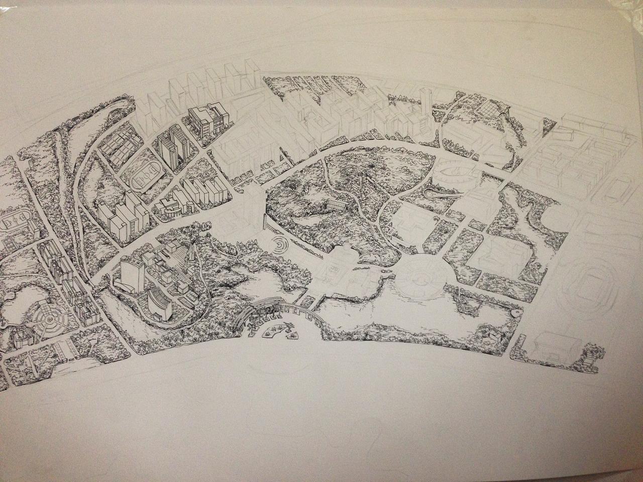 南昌大学手绘地图