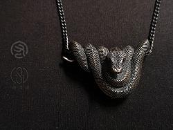 万物有灵-爬宠系列首饰@树蟒吊坠&树蟒戒指
