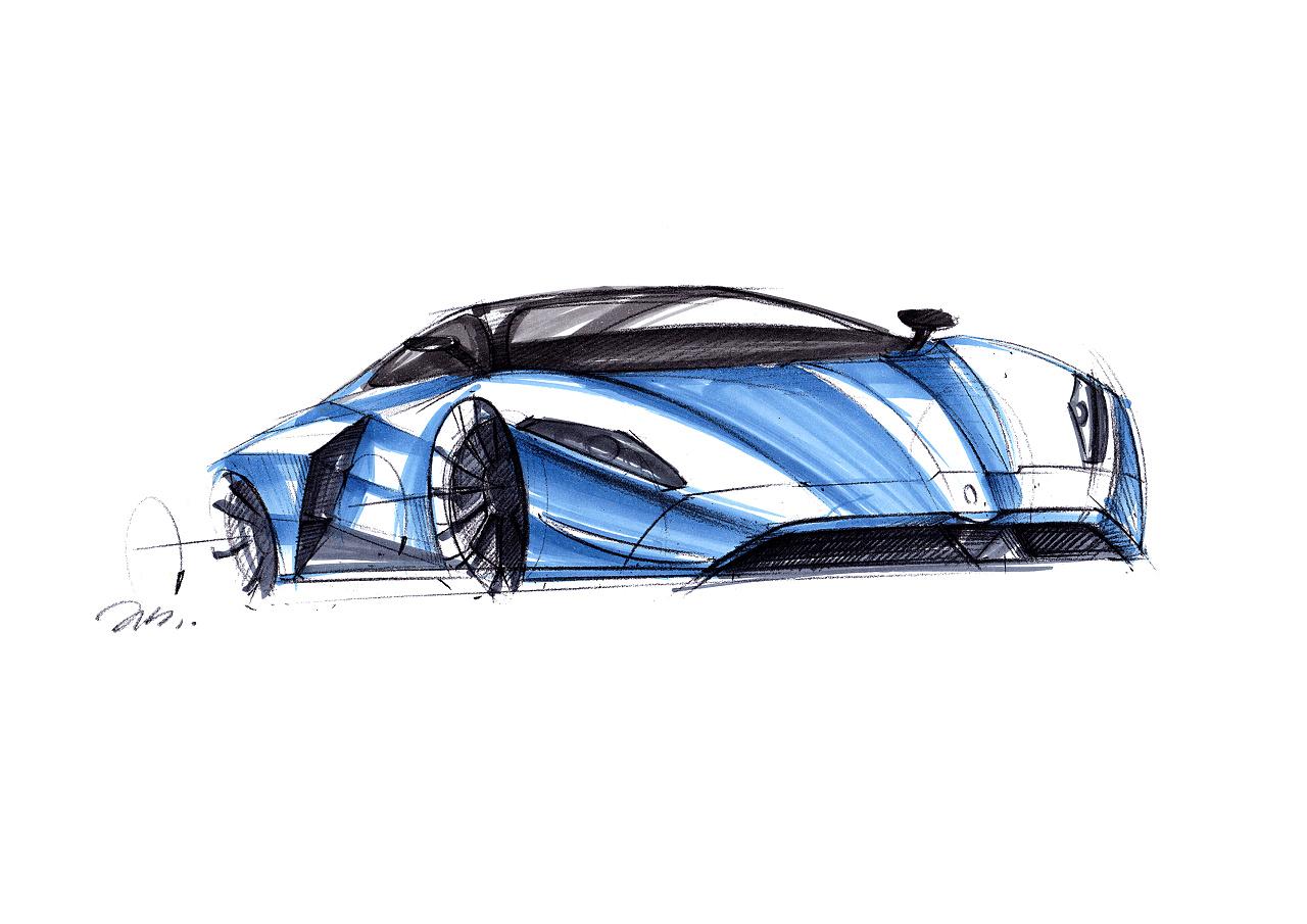 工业产品设计手绘之 超级跑车上色图~~马赛(mars)作品