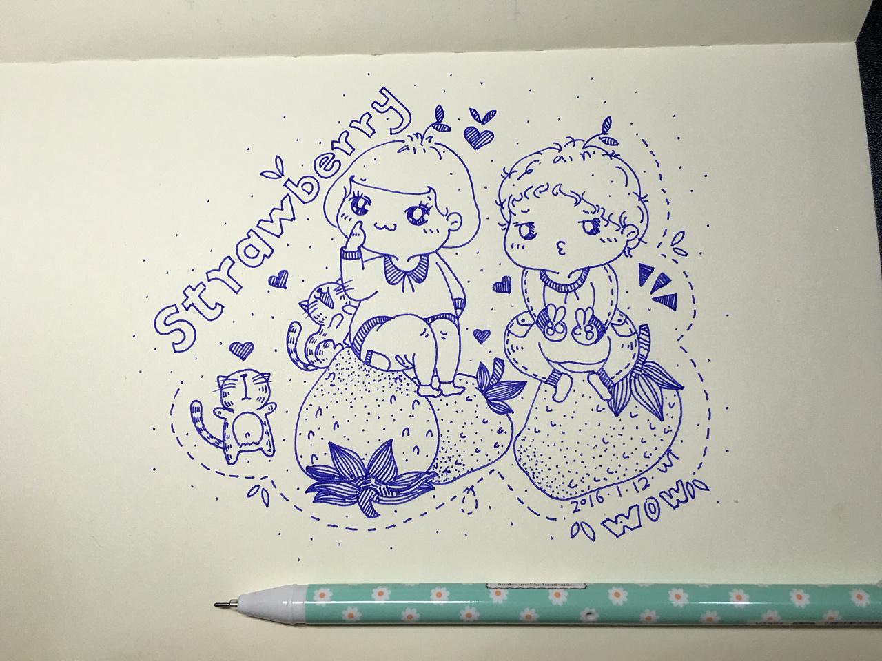 爱玩毛线球的小花猫-动物简笔画 - 查字典板报网