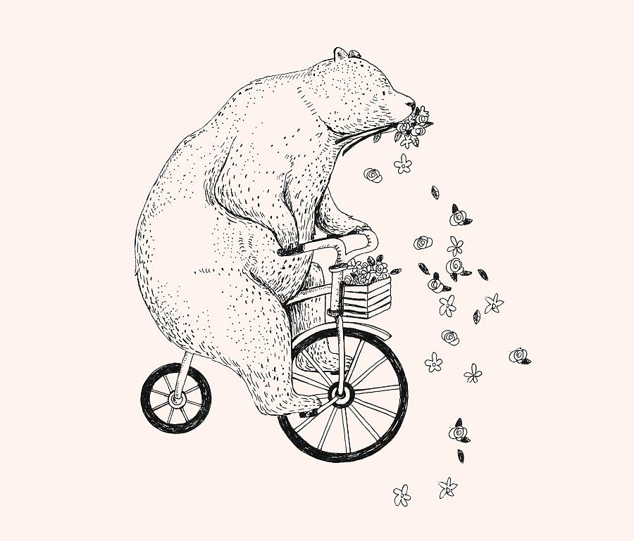 原创作品:动物钢笔画