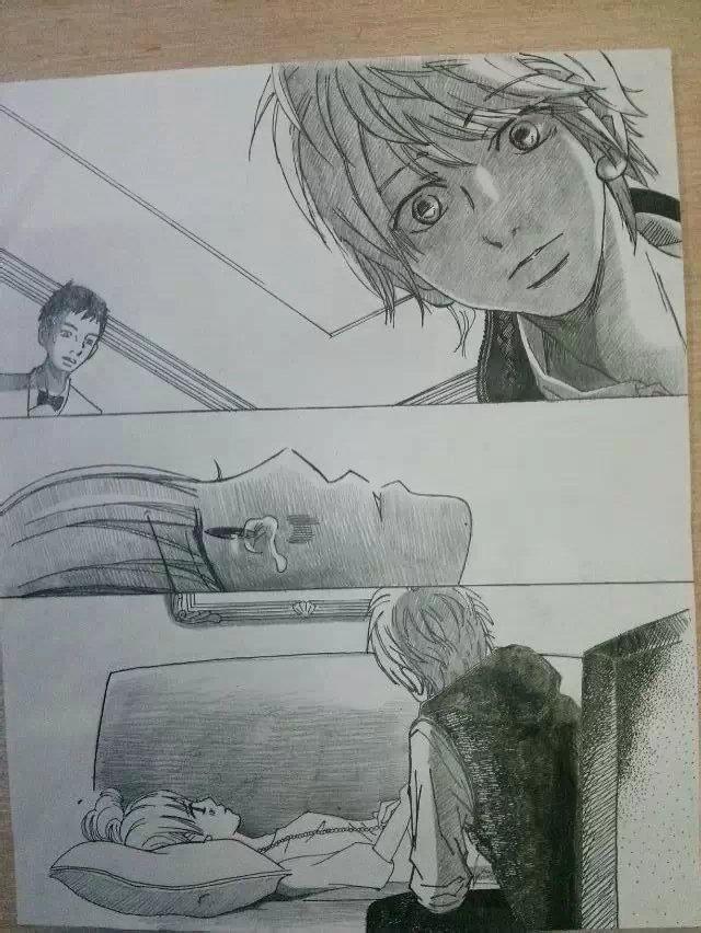 钢笔手绘《我们的存在》漫画(仆等がいた)|动漫|单幅