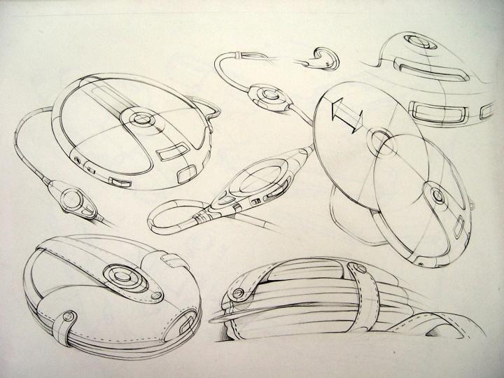产品设计图绘线稿分享展示