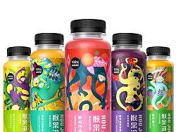 百果园果汁包装设计,灵气、前卫的猴子。