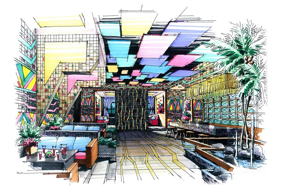 室内手绘作品|室内设计|空间|zzdy.lx - 原创设计作品