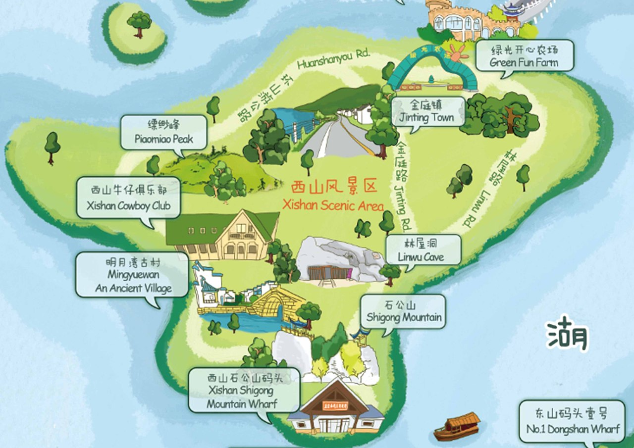 苏州万丽万豪酒店《慢游太湖》手绘地图项目
