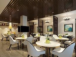 大庆云朵酒店餐厅设计