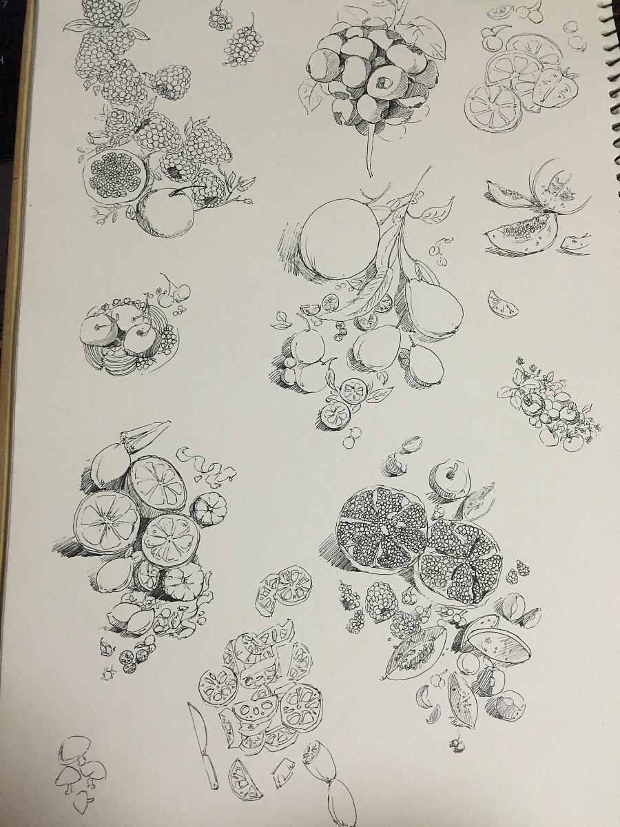 黑白手绘|插画习作|插画|kelesy_ - 原创设计作品