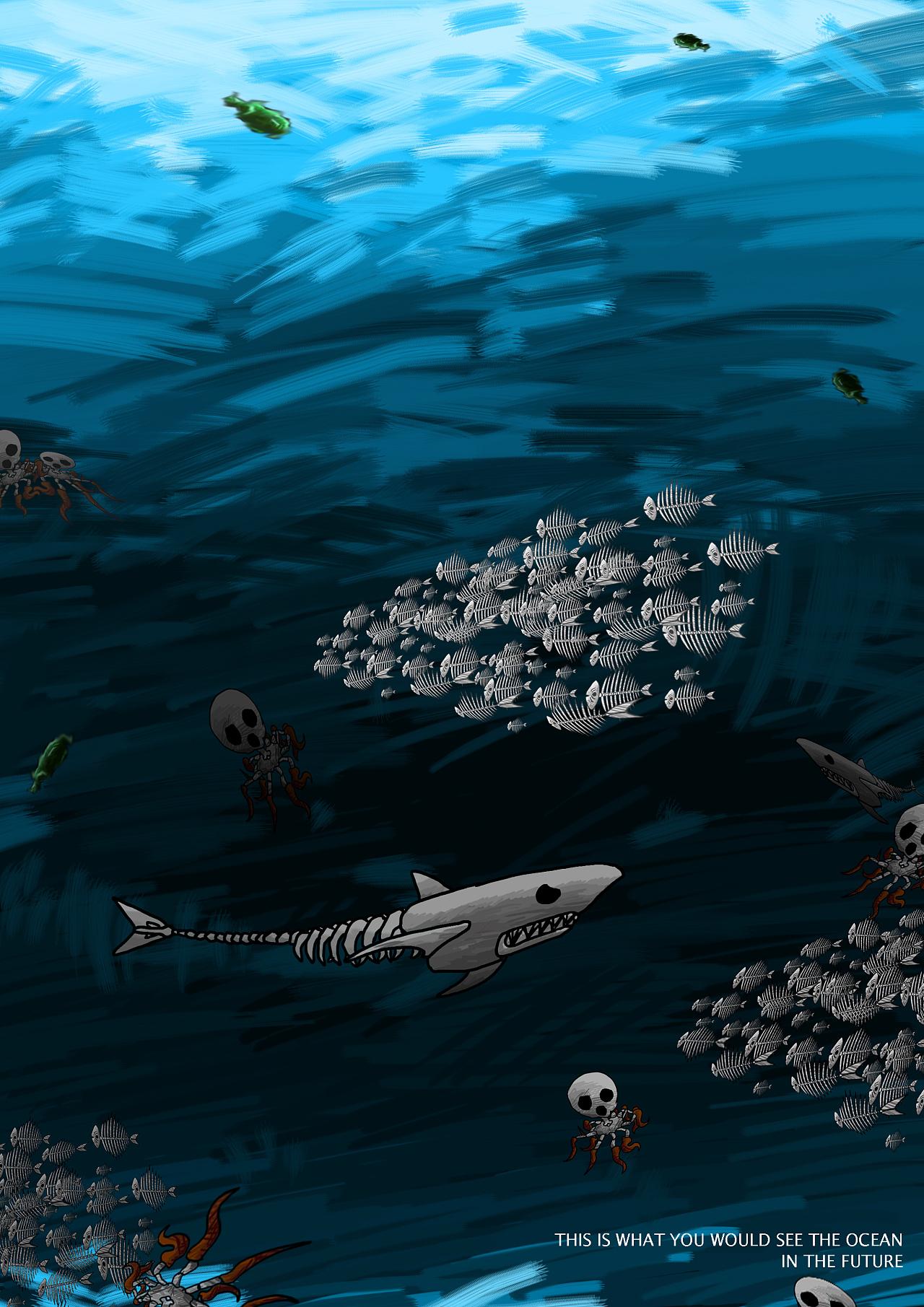 海洋环境保护公益海报