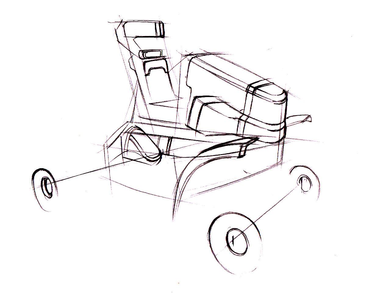 沙滩越野车设计项目【设计手绘效果图】|工业/产品