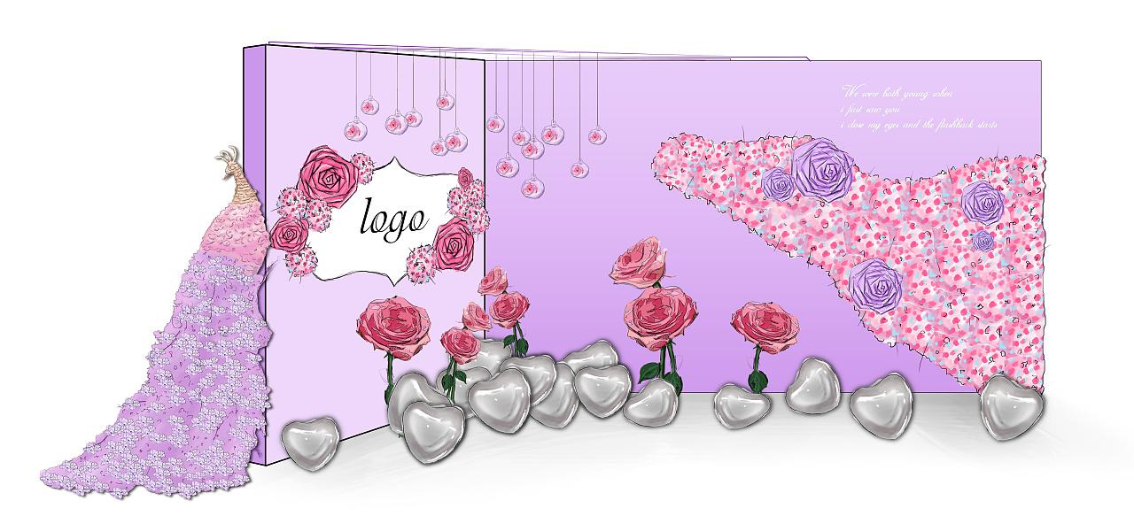 婚礼手绘|空间|舞台美术|kangta199079_ - 原创作品