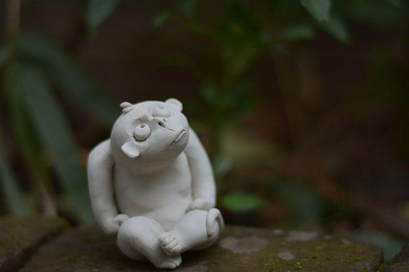 天禽陶瓷动物猴子摆件系列