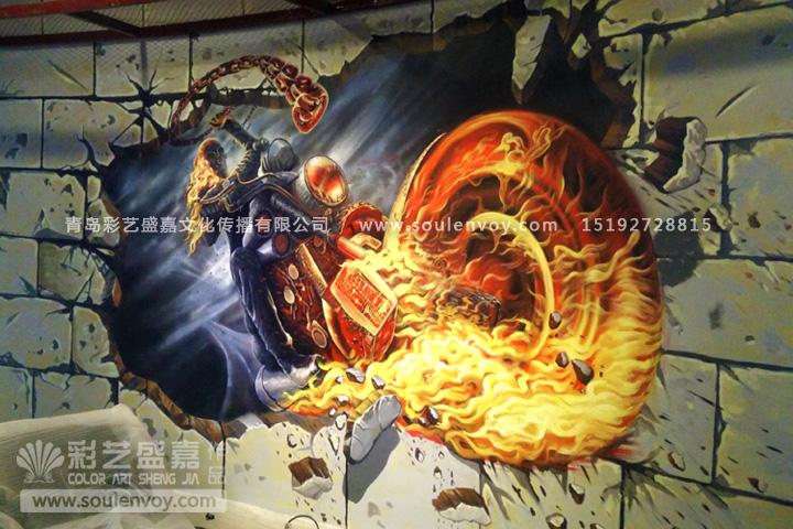 3d立体画,3d壁画,3d手绘墙,3d彩绘,墙体彩绘,墙绘,手绘墙,手绘壁画