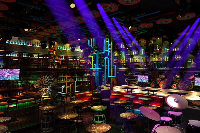 甘孜酒吧v酒吧 甘孜酒吧吊顶-momo啤酒馆 女孩 室内空间房花朵装修图片