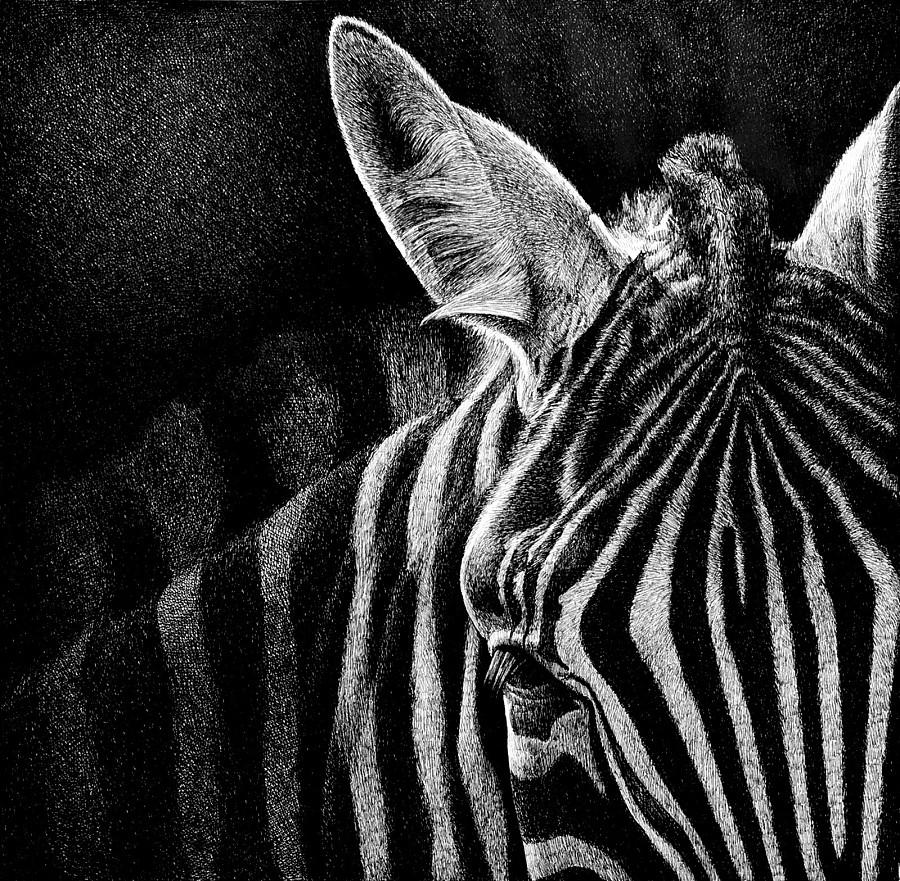 钢笔画一组动物