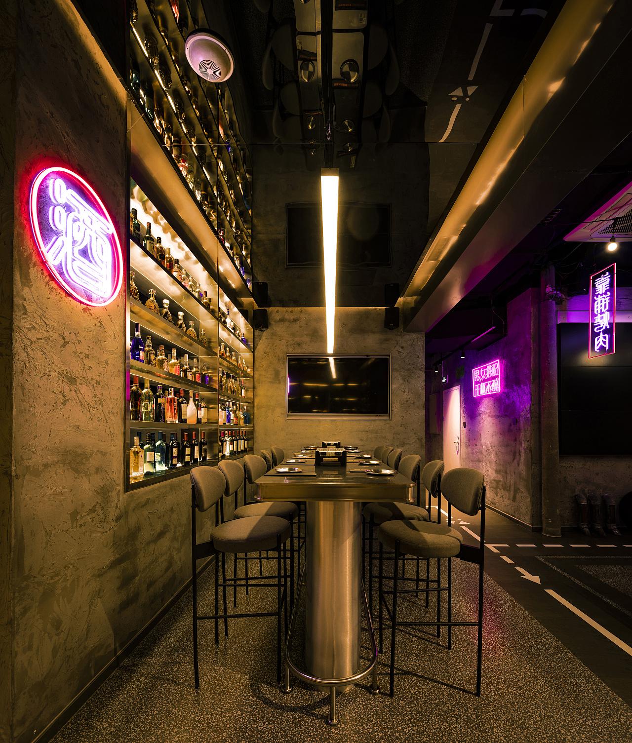 烧烤店 · 餐饮空间设计_靠铺烤肉料理 北京店
