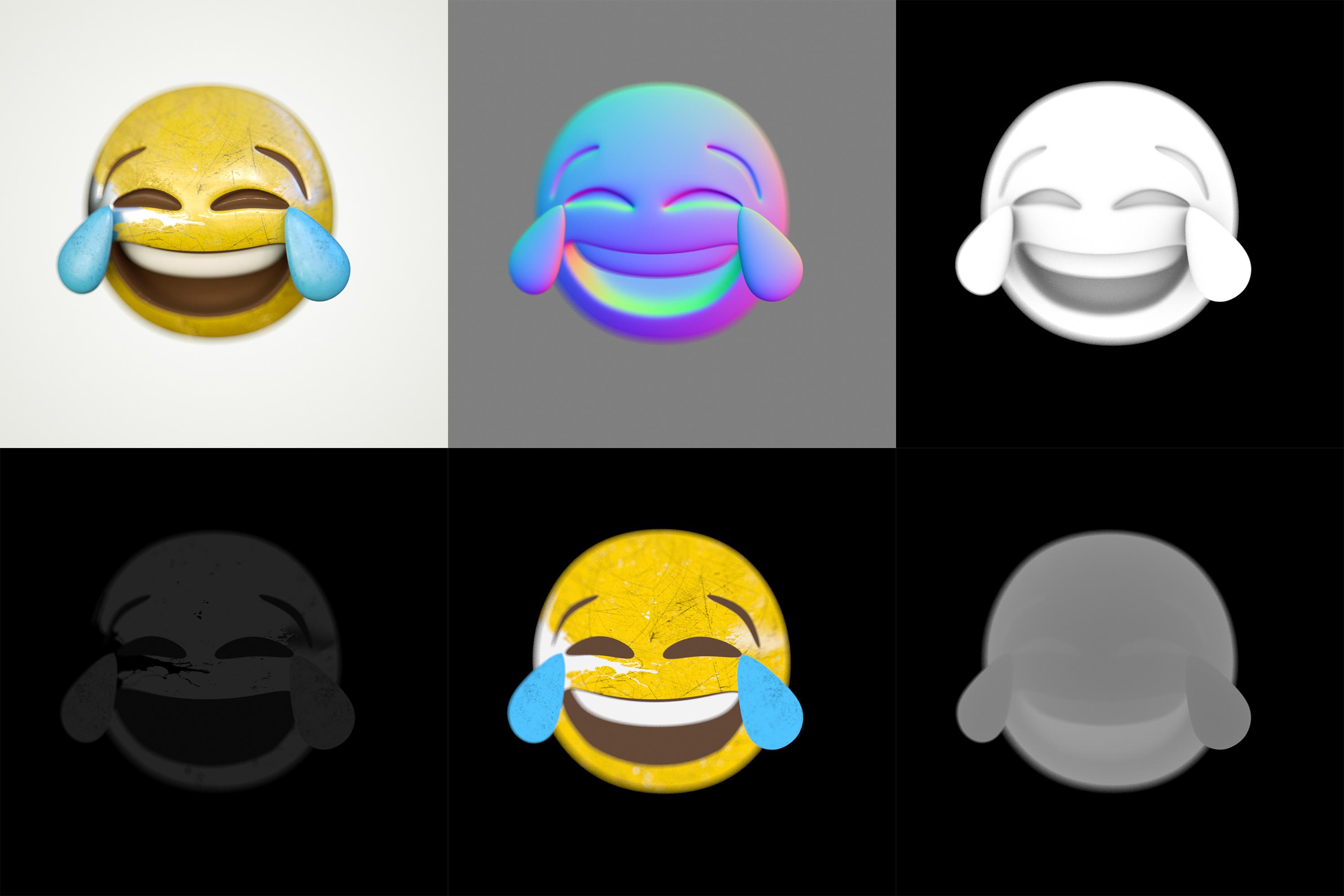 emoji表情三维渲染场景测试图片图片