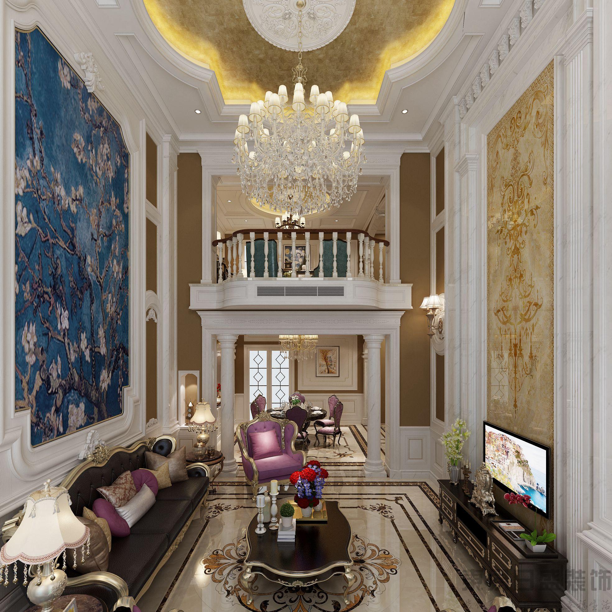 【东易格调】336㎡欧式古典风格独栋别墅装修效果图图片