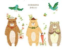 百图斩 - day7 三只小熊