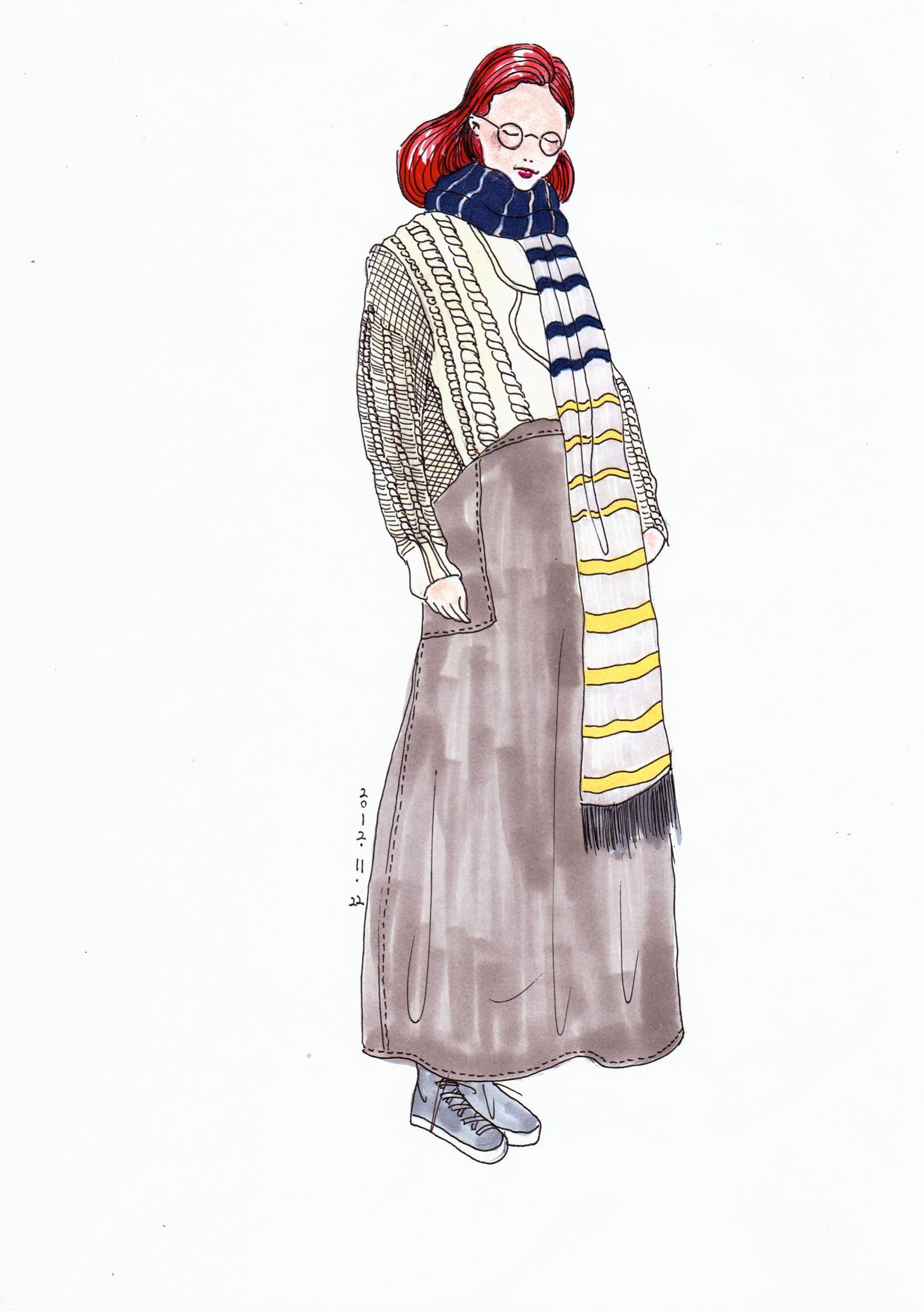 服装手绘临摹及部分原创画稿